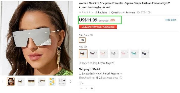 Square Oversized Women Sunglasses