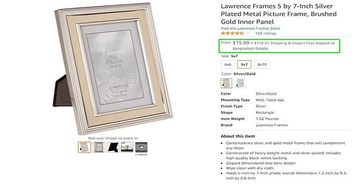 Table Picture Frame For Decor