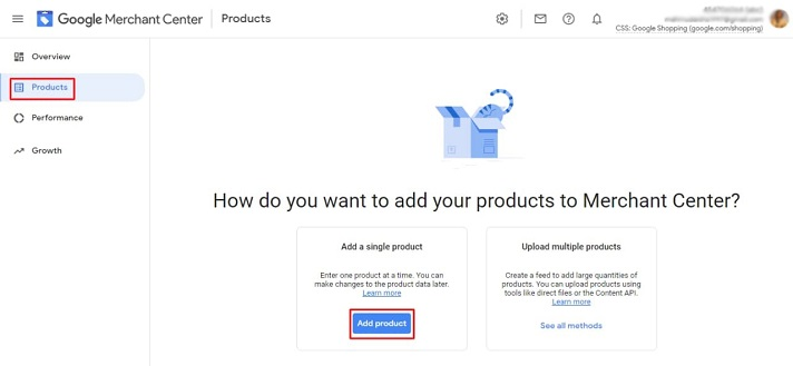 Add products to Google Merchant