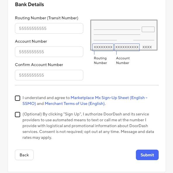 Bank Details