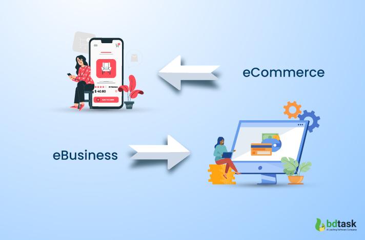 Comparison Chart between eCommerce & eBusiness