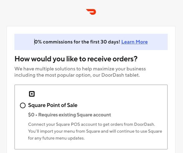 DoorDash Registration Form