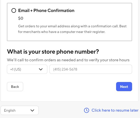 Email Phone Confirmation