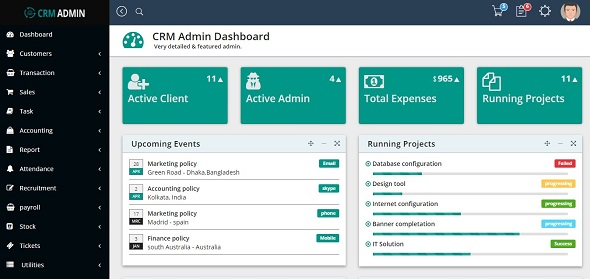 CRM Admin Template