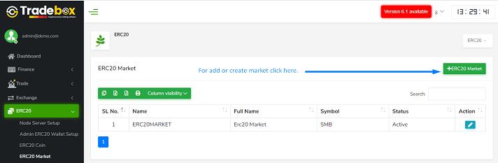 ERC20 Market list
