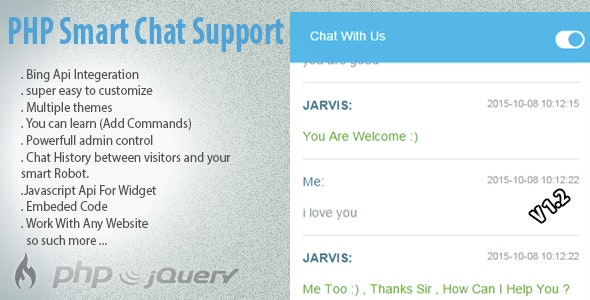 PHP Smart Robot Chat Support