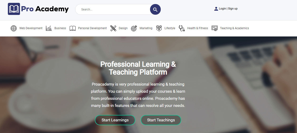 Proacademy 2 - LMS & Live Classes Marketplace