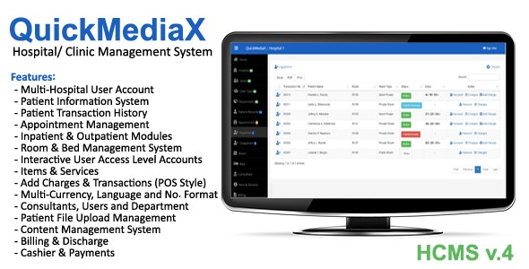 QuickMediaX - Hospital/Clinic Management System