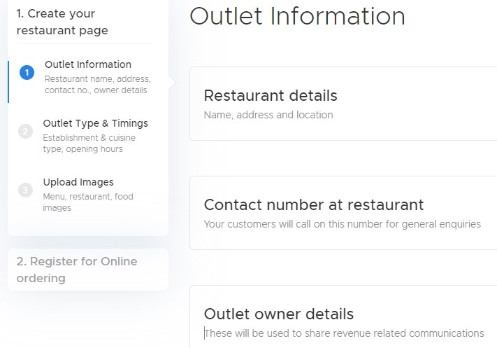 Create Your Restaurant Page
