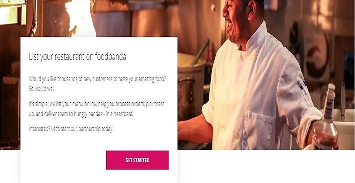 List your restaurant on foodpanda