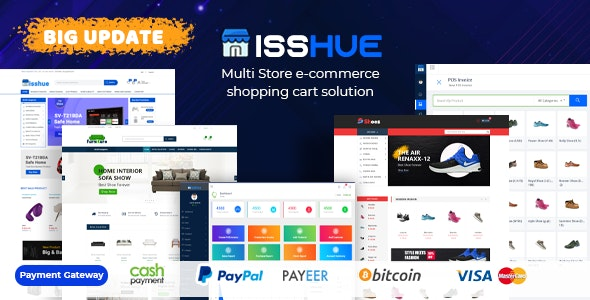Isshue - Ecommerce Shopping Cart Software