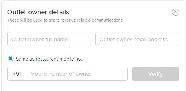 outlet owner details