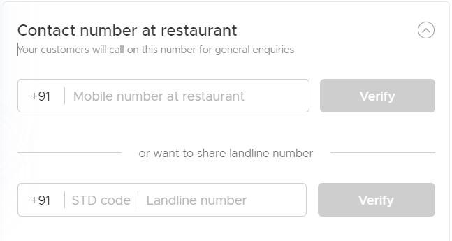 restaurant contact address