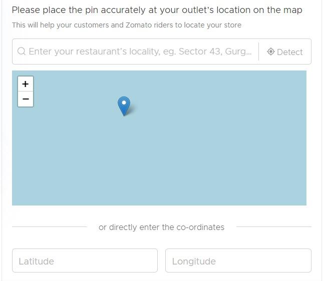 restaurant map location