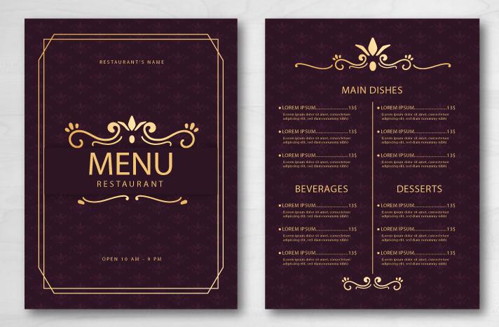 Restaurant Menu Design Example 3