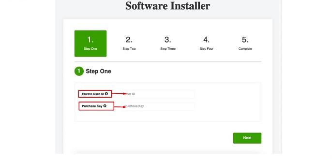 Software Installer Step 1