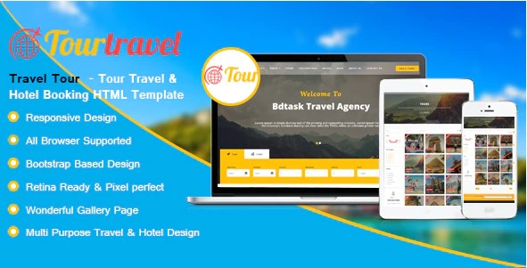 Travel Tour - Hotel and Booking HTML Template