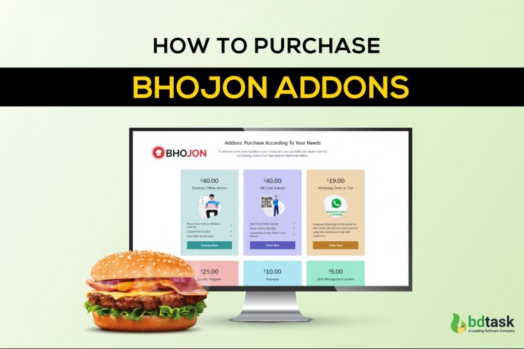 How to purchase Bhojon Addons