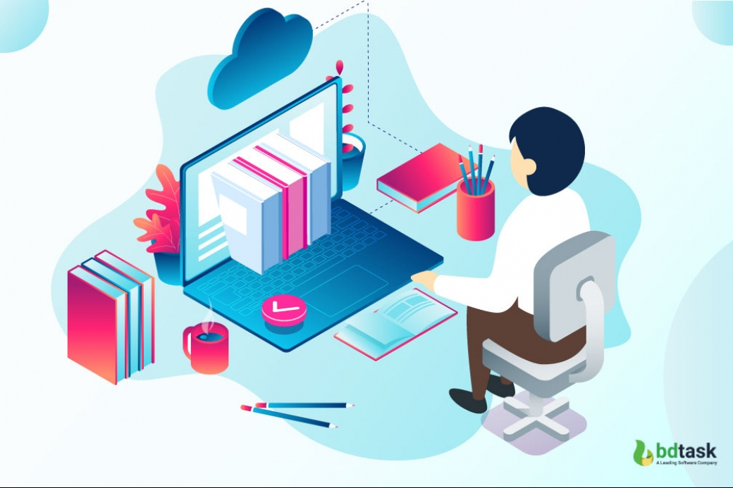In and out reality of the online learning platform