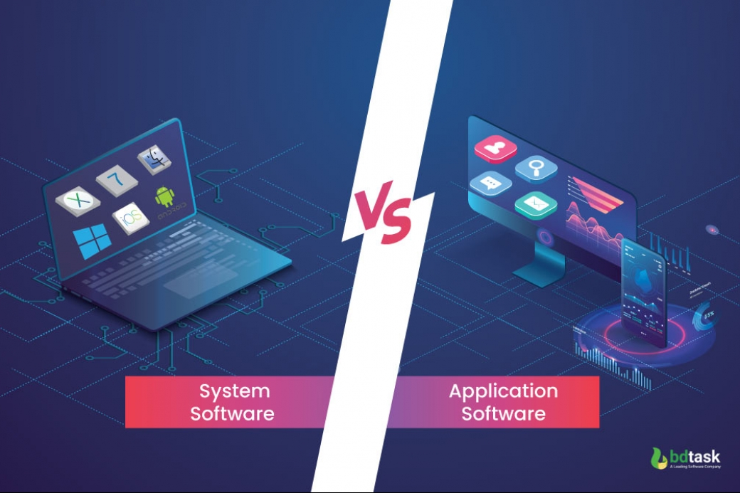 Differences between system and application software