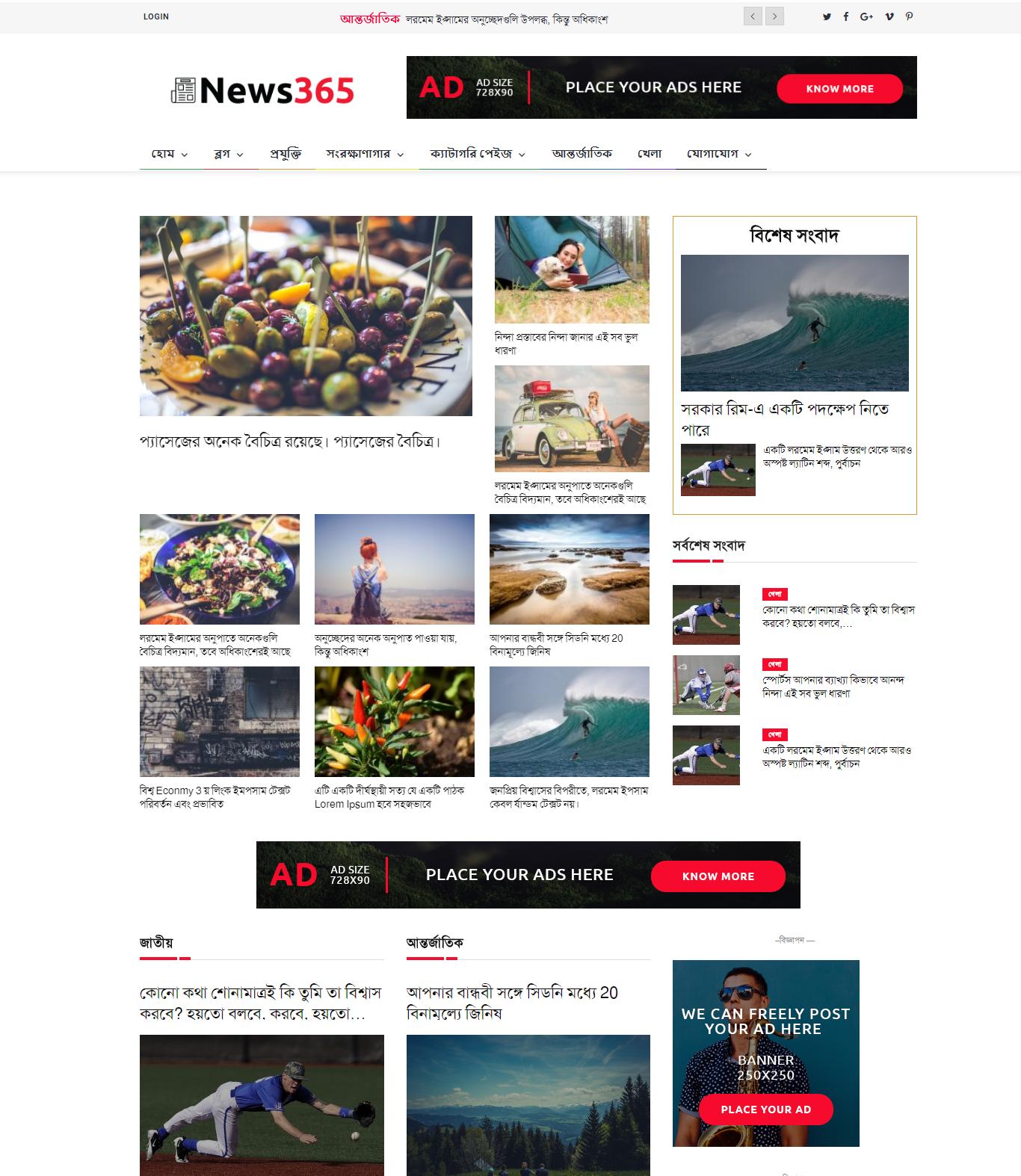 News365 -Best Newspaper theme| Wordpress theme development